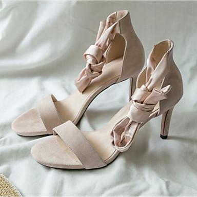 Aiguille Femme Confort Daim Noir Amande Sandales Eté Chaussures ouvert 06790945 Rouge Talon Bout YZrqHY
