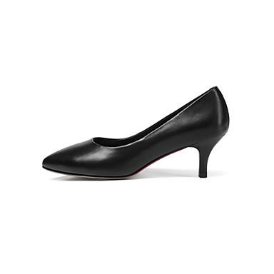 Escarpin Chaussures Eté Talon à Femme 06840811 Basique Cuir Talons Chaussures Noir Nappa Aiguille IdwxwqOtzT