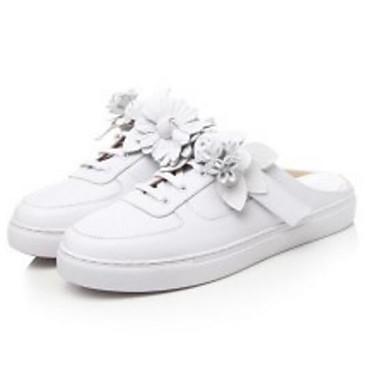 Femme 06833118 Mules Nappa Blanc Talon Cuir amp; Confort Eté Sabot Plat Chaussures gPr1qwg