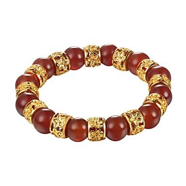 abordables Bracelet-Bracelet à Perles Femme Boule disco dames Bracelet Bijoux Noir Rouge Vert Forme de Cercle pour Cadeau Quotidien