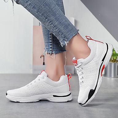 Chaussures 06825896 Talon Chaussures Plat Confort Femme élastique Tissu d'Athlétisme à Blanc Course Pied Automne Noir 1SqxwX6