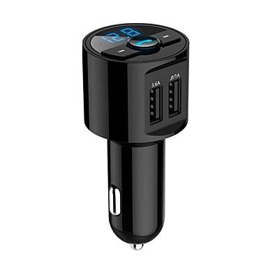 voordelige Automatisch Electronica-bluetooth carkit handsfree fm-zender draadloze mp3 muziek betalen dual usb 5v 3.6a autolader spanningsdetectie
