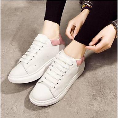 Nappa 06799616 Printemps Femme Eté Noir Basket Chaussures Cuir Rose Plat Bout fermé Confort Talon wxqREOq