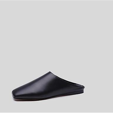 Plat Vin Printemps amp; Confort Blanc Chaussures 06780497 Sabot Mules Cuir été Nappa Bout Talon fermé Femme Noir t0vZt