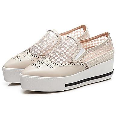 Femme Chaussures D6148 06831880 Bout Confort fermé Chaussons Printemps Blanc Mocassins Noir Creepers Nappa Eté Cuir et rrwCqdH