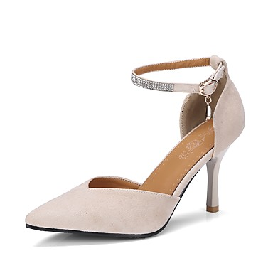 025dfcbf4a10 Women s Shoes Microfiber Fall Basic Pump Heels Stiletto Heel Pointed Toe  Buckle Beige   Red   Light Pink   Wedding   Party   Evening