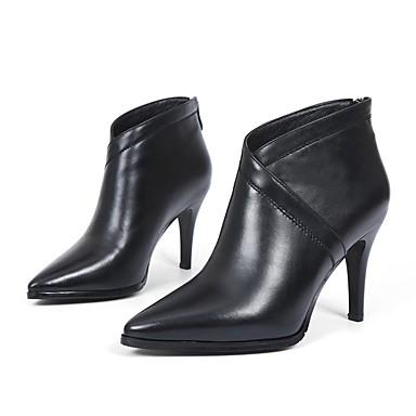 Bottes Chaussures hiver Vin Femme Aiguille Talon Confort Automne Cuir Noir 06840846 Nappa IUwa7axdqY