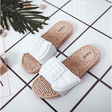 y flops verano Mujer Confort Blanco abierta Puntera Primavera Plano PVC Tacón 06778131 flip Zapatillas Zapatos Rojo Rosa Rxqp4Y