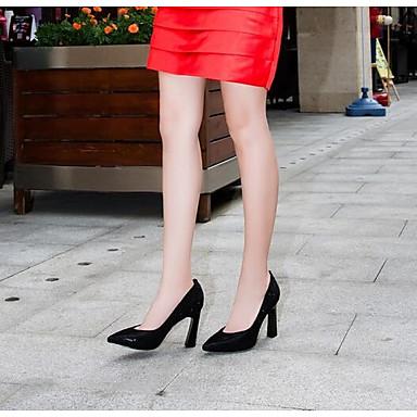 Chaussures Daim Bottier Femme Talon 06797730 Printemps Noir Talons à Confort Chaussures dROOwq5