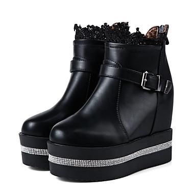 8106dfcc7e7dd tanie Kozaki damskie-Damskie Nowoczesne buty PU Jesień i zima Modne obuwie  / Kozaki na