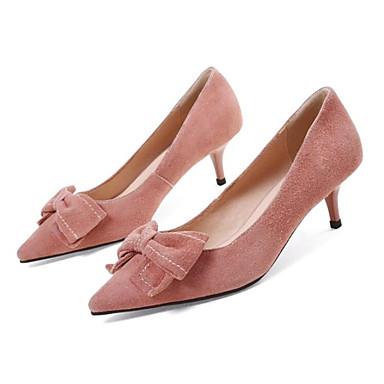 Printemps Confort Chaussures Gris Aiguille Rose Chaussures Daim Femme Talon Marron Talons à 06832962 6xwEZcq
