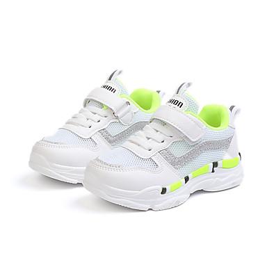 Djevojčice Cipele Mrežica / PU Proljeće ljeto Udobne cipele Atletičarke tenisice Hodanje za Djeca Crvena / Zelen