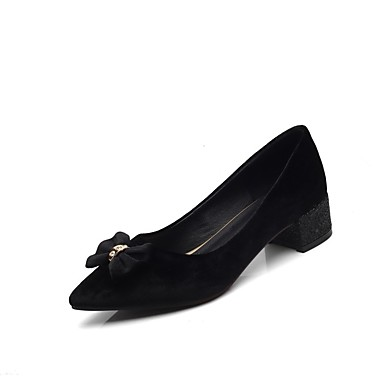 été Talon Noir Printemps Talons Confort Chaussures 06832631 Daim Chaussures Femme Rouge à Bottier Rose Ctw8qvW