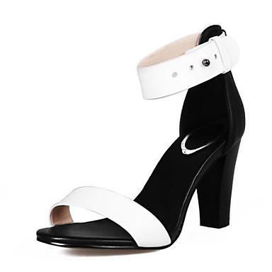 Sandales Bottier 06791376 Talon Femme Escarpin Eté Confort Nappa Basique Chaussures Blanc Cuir 0xzB4
