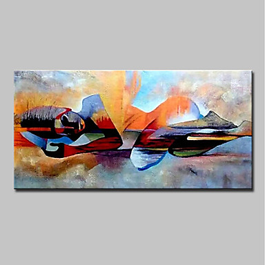 cheap Oversized Painting-Oil Painting Hand Painted - People / Religious Modern Canvas
