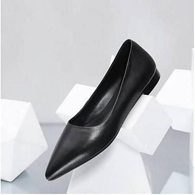 Cuir fermé Eté Plat 06797587 Talon Ballerines Confort Chaussures Bout Femme Noir Nappa HT5FA1q
