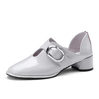 Femme Chaussures Cuir Nappa Printemps Printemps Printemps été Confort Chaussures à Talons Talon Bottier Noir / Gris / Jaune cccdb4