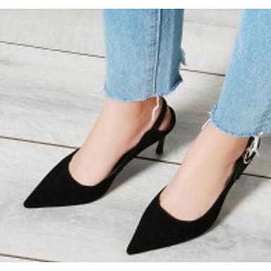 Escarpin Peau Basique mouton Aiguille Brun Talon Noir Eté de Confort 06834912 Chaussures claire Printemps à Chaussures Femme Talons F0fwqq