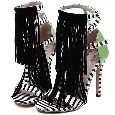 Žene Cipele Sintetika Proljeće ljeto D'Orsay cipele Sandale Stiletto potpetica S resicama Obala / Zabava i večer