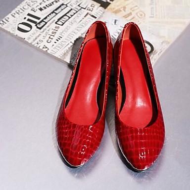Rouge Bout Nappa Eté Femme Chaussures Cuir Plat 06810693 Ballerines Printemps Confort Noir fermé Talon 7zZBT