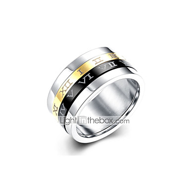 Muškarci 3D Band Ring - Titanium Steel Vintage, Punk 8 / 9 Pink Za Dnevno / Rad