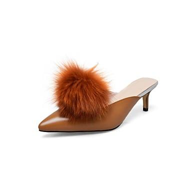 Noir Marron Cuir Confort amp; Amande 06840224 Femme Eté Sabot Mules Talon Nappa Aiguille Chaussures Pqn5fwv