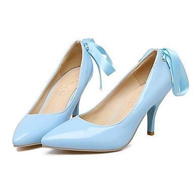 Primavera Rosa Stiletto Azul Tacones Confort Tacón Zapatos Wine Mujer 06832591 PU nxp7E