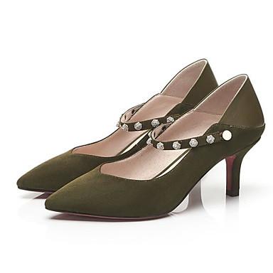 Marron Basique à Femme Noir Chaussures Véronèse 06783504 Aiguille Talon Confort Vert Talons de Peau Chaussures Escarpin mouton Eté gw0ag