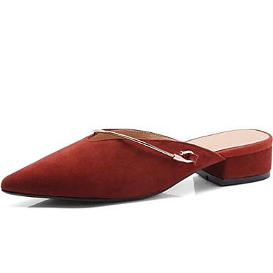 Talon 06799520 Femme Eté Noir Chaussures Mules Pêche Confort Bout amp; Gris de mouton Bottier Peau Sabot Daim fermé wvgyrqgT