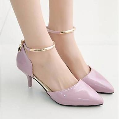 Tacones Rosa Stiletto Confort Plata 06790403 Mujer Puntiagudo Zapatos PU Negro Verano Dedo Tacón wWIwHg4Pq