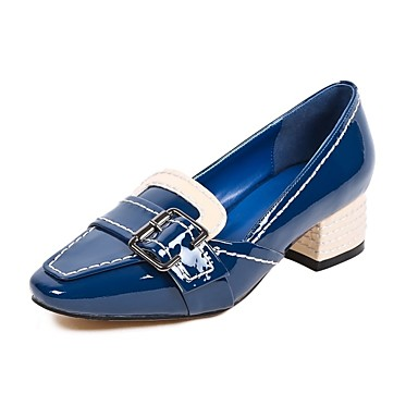 Cuir Nappa à Printemps Confort 06832997 Block Bleu Chaussures Noir Heel Chaussures été Femme Talons EZq455
