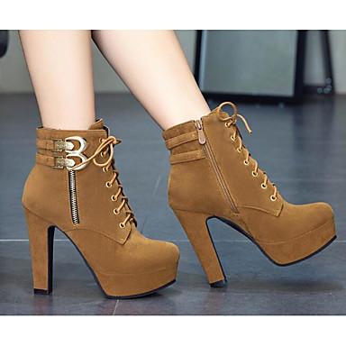 Bottine Bottier Jaune Demi Clair Noir Chaussures Botte Confort de Combat 06832435 Gris Femme Automne boîtes Bottes hiver Polyuréthane Talon FvvqWpP