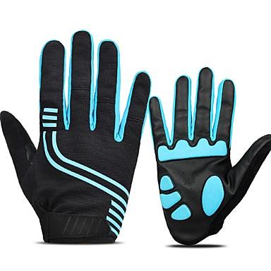 abordables Gants Velo-INBIKE Gants vélo / Gants Cyclisme Gants de VTT Ecran tactile Respirable Antidérapant Gant Tactile Gants sport Torchon VTT Vélo tout terrain Noir Bleu pour Adulte Moto