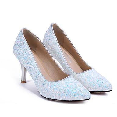 synthétique Bleu clair Chaussures Matière Escarpin Rose Femme Talons Talon Automne Confort Aiguille Chaussures Claire Violet Basique Printemps 06817255 à a4ATEwq