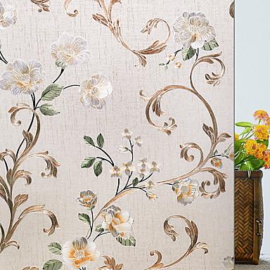 Film de fen tre et autocollants d coration fleur fleur pvc autocollant de fen tre salon - Film salle de bain ...
