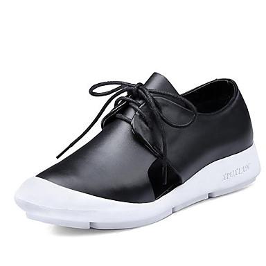 Žene Cipele PU Proljeće ljeto Udobne cipele Sneakers Ravna potpetica Obala / Crn / Crvena