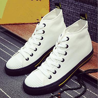 Muškarci Platno Jesen Udobne cipele Sneakers Obala / Crn