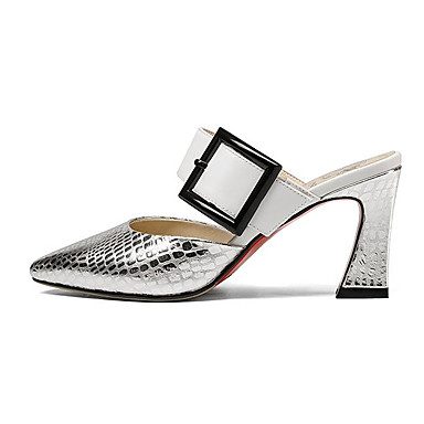 Bottier Cuir Talon amp; Champagne Chaussures Nappa Confort Sabot Femme 06797412 Argent Mules Eté z5wq8