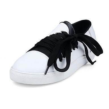 Blanc Chaussures Noir 06832131 Basket Talon Eté Plat Confort Femme Cuir 4q0wFF