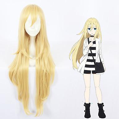 Kuoleman enkelit Rachel Gardner säde Kaikki 40 inch Heat Resistant Fiber Vaaleahiuksisuus Anime Cosplay-Peruukit