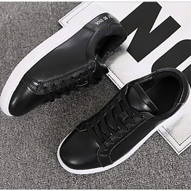 Nappa Talon Blanc Basket Confort 06809916 Chaussures Plat Cuir Femme Printemps Eté Bout fermé Noir wUExfnAwq0