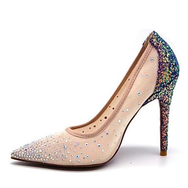 Chaussures Printemps Maille royal 06791400 Basique Talon Bleu Confort Talons Escarpin Aiguille à Femme Chaussures pBqndq