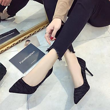 PU 06830592 Básico Mujer Verano Stiletto Dedo Pump Beige Puntiagudo Tacones Negro Zapatos Tacón 5wBB7x1I