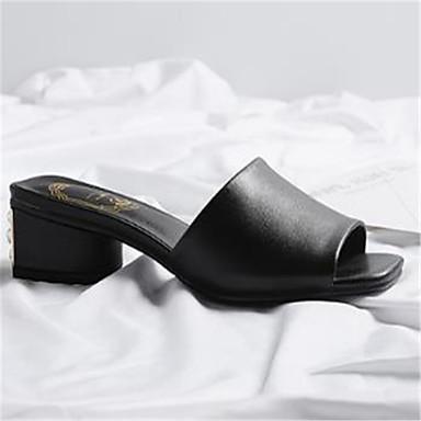 Sandales Talon Basique Noir Femme Eté Blanc Cuir ouvert Chaussures Escarpin 06774703 Bottier Bout gF6FqXZw