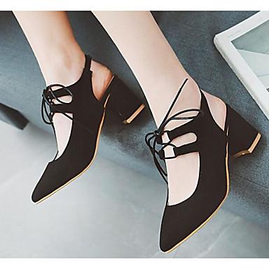 Talon Bottier Femme Amande Polyuréthane Chaussures Talons Rose Noir à Chaussures 06799655 Basique Escarpin Confort Printemps zzgxvr