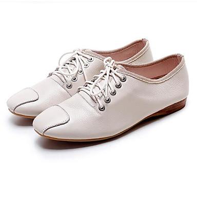 Printemps Chaussures Nappa Talon Plat Cuir Femme Bout Eté Basket Blanc Noir fermé Confort Amande 06796522 H1tqaWA