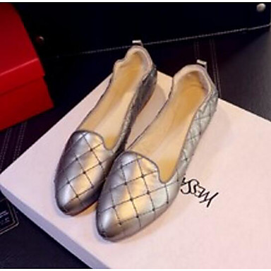 Women's Shoes Patent Leather Spring Moccasin Comfort / Moccasin Spring Loafers & Slip-Ons Low Heel Gold / White a9bd0a