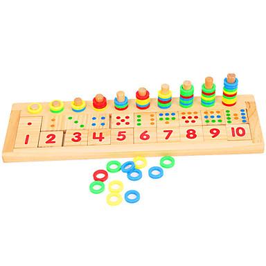 hesapli Oyuncaklar ve Oyunlar-Montessori Eğitim Araçları / Ahşap Yapbozlar Eğitim Ahşap 1 pcs Çocuklar için Genç Erkek Hediye