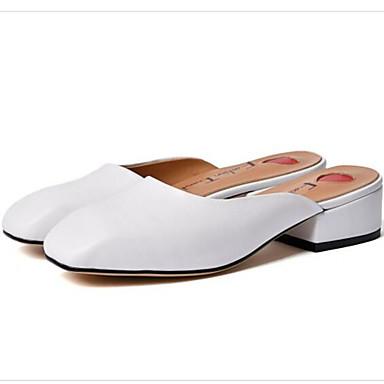 Talon Cuir 06832371 Blanc Nappa amp; Femme Mules Chaussures Confort Sabot Véronèse fermé Noir Vert Bout Bottier Eté 8pqxFawF5