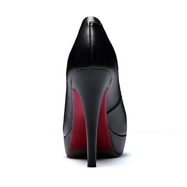 Talons Printemps Femme 06831910 Cuir Confort Chaussures Nappa Aiguille Chaussures à Noir Talon HAqt0